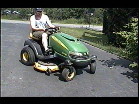 John Deere SST16 Lawn Tractor with 16HP V-Twin Briggs Engine - YouTube