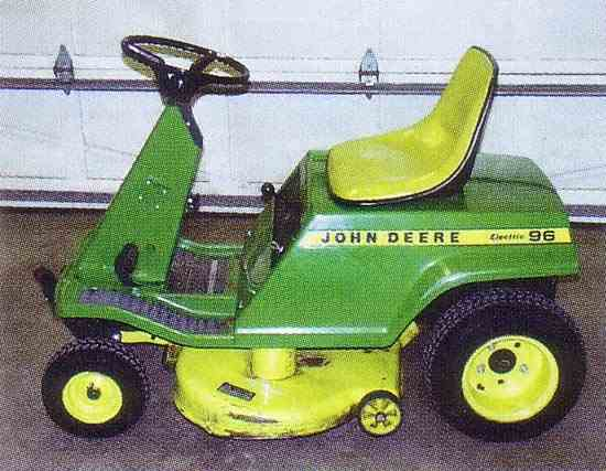 JOHN DEERE 90 96 36 VOLT ELECTRIC RIDING MOWER TRACTION ...