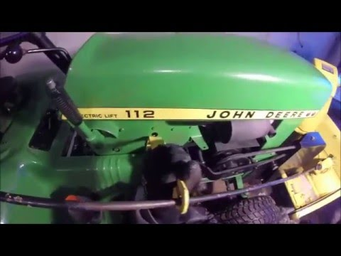 John Deere 112 snow blower install (w/electric lift) - YouTube