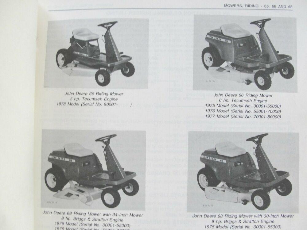 Vintage John Deere 66 Riding Mower | eBay