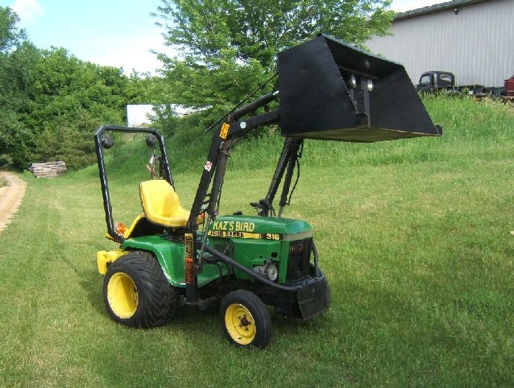 John Deere Lawn Tractors With Bucket Modified john deere 318 garden