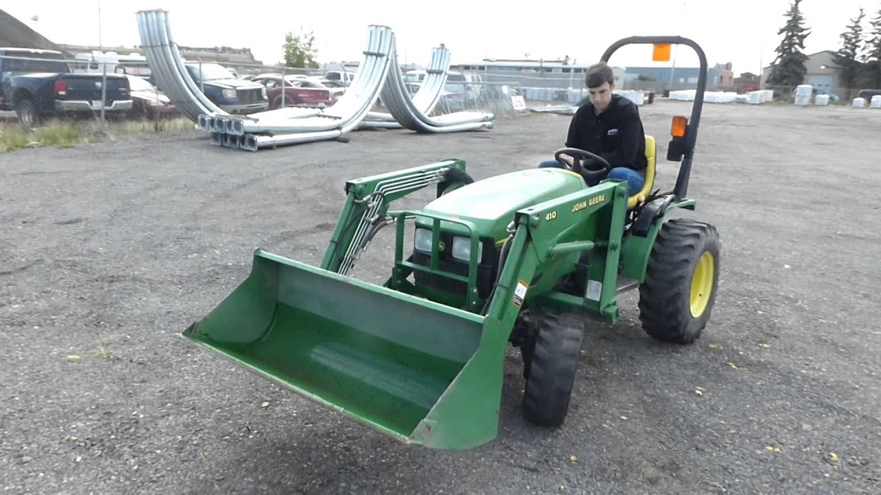 Lot 503 2003 John Deere 415 MFED Utility Tractor - YouTube