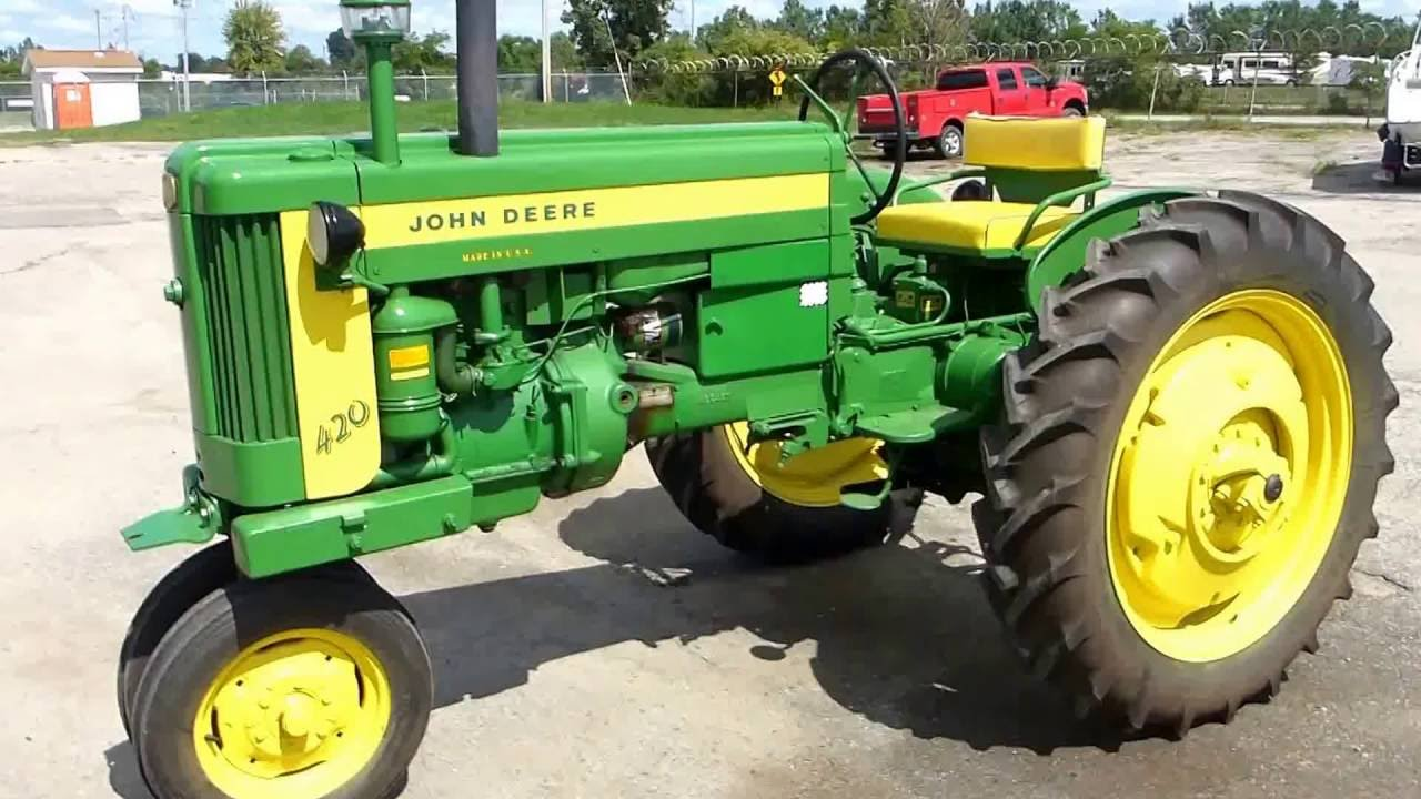 1956 John Deere 420-T Tractor | For Sale | Online Auction ...