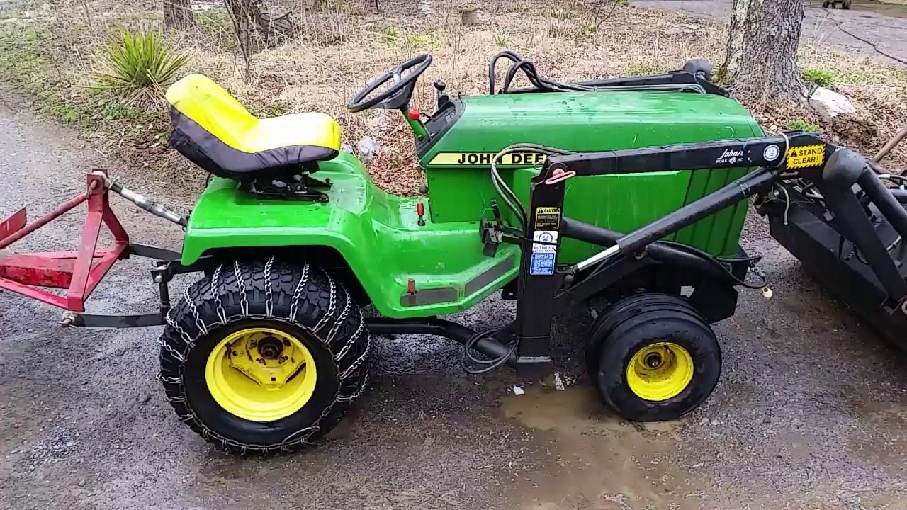 My john deere 430 diesel tractor - YouTube