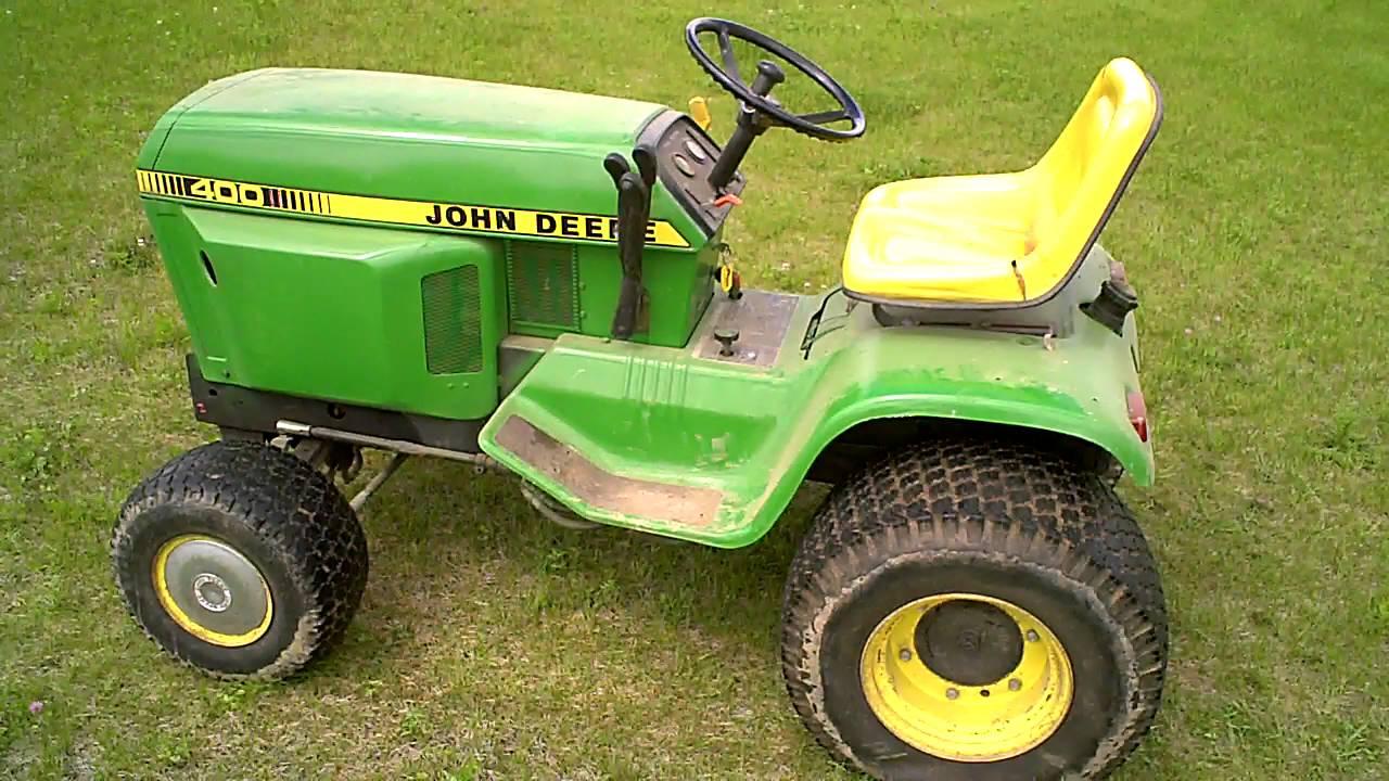 LOT 2389A 1979 John Deere 400 Lawn Tractor Tear Down Into ...
