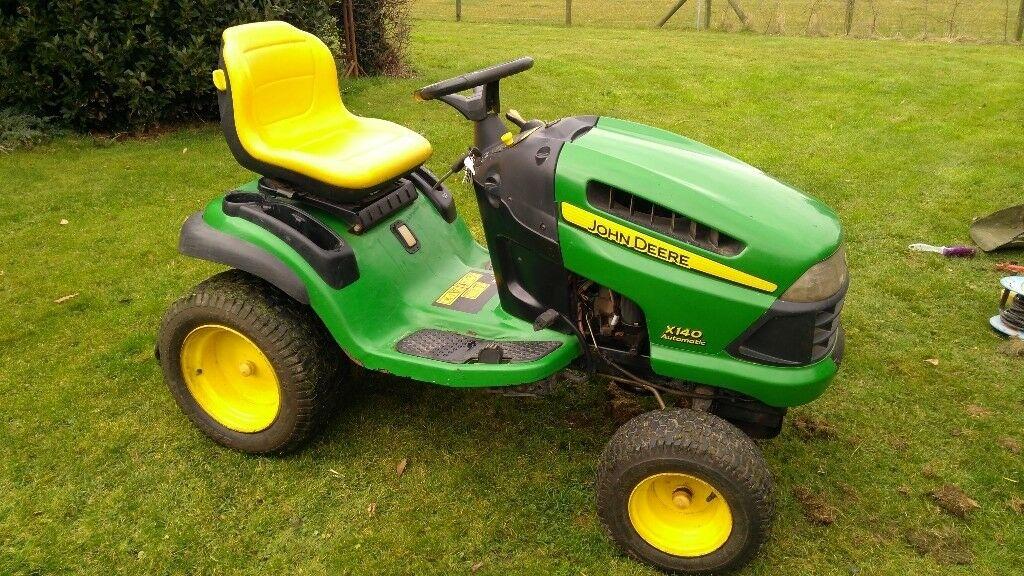 John Deere X140 ride on mower lawn tractor | in Spalding ...
