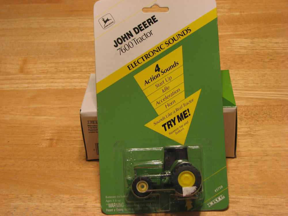 1994 ERTL JOHN DEERE 7600 TRACTOR w/ELECTRONIC SOUNDS. NIP ...