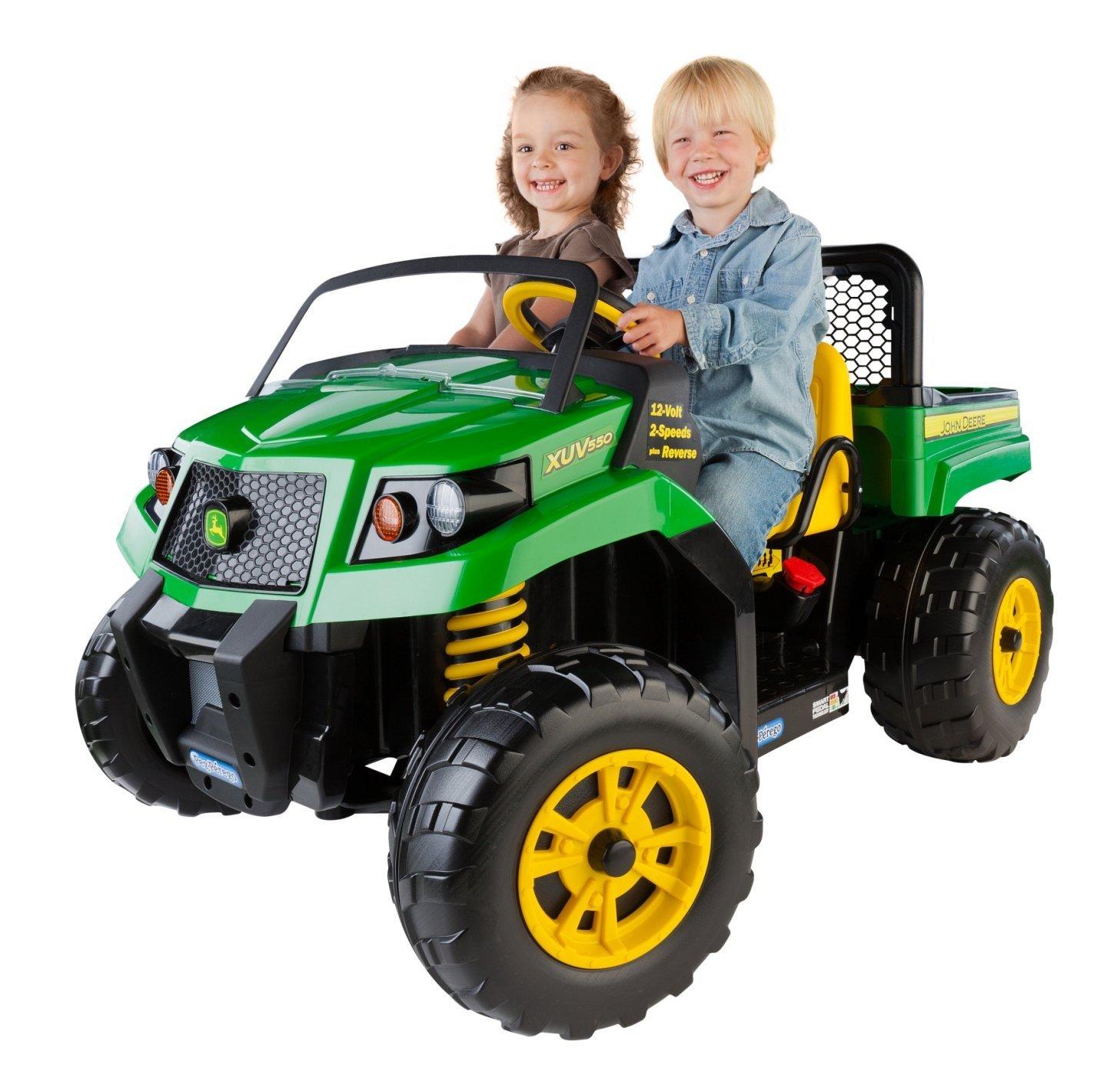 Kids riding Car vehicle John Deere Gator Truck Dump Bed 2 ...