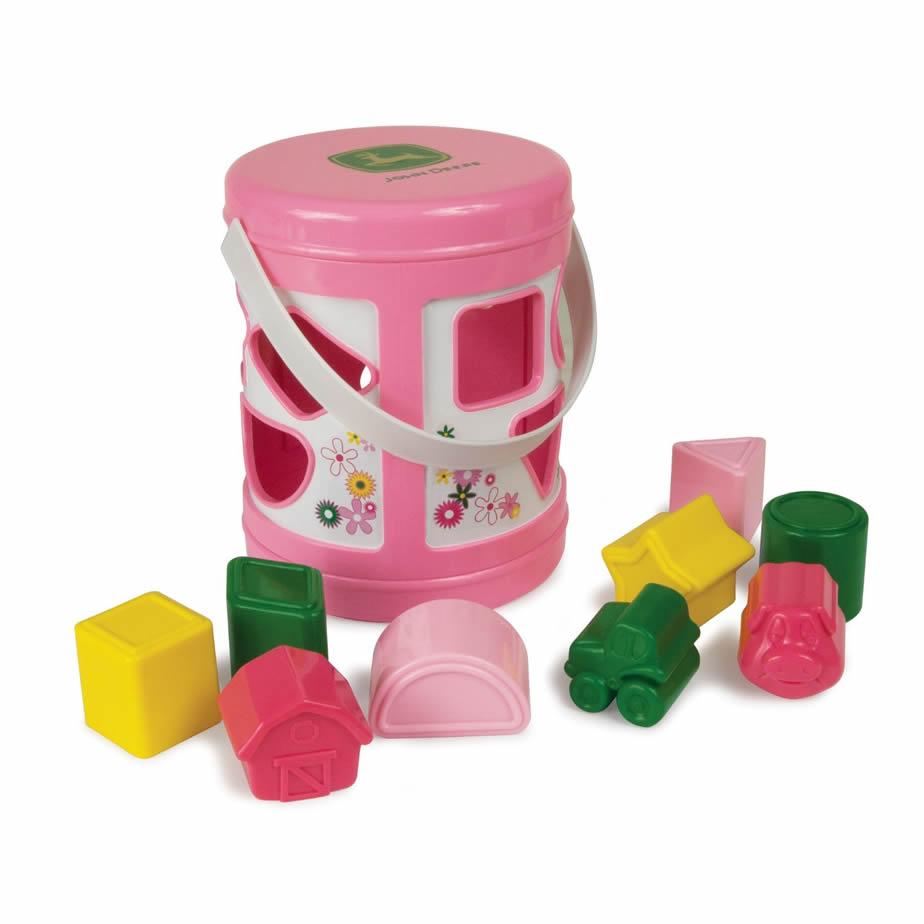 John Deere Shape Sorter - Pink at MyToyBox.Com® - 34571