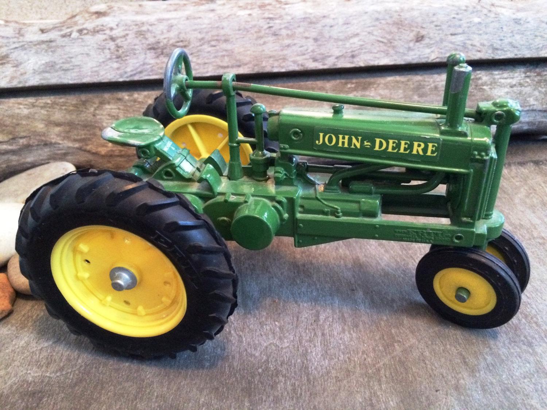 Vintage John Deere Toy Tractor Green Toy Tractor John Deere