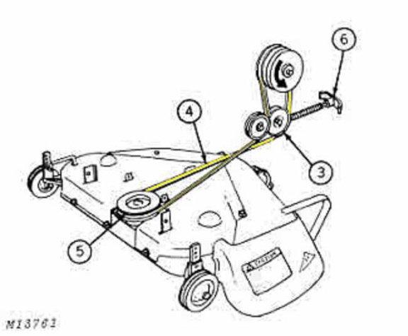 John Deere 112 Mower Belt | John Deere Belts: John Deere ... on