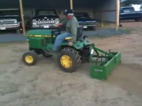 John Deere 400 Garden Tractor with Howse Box Scrape - YouTube