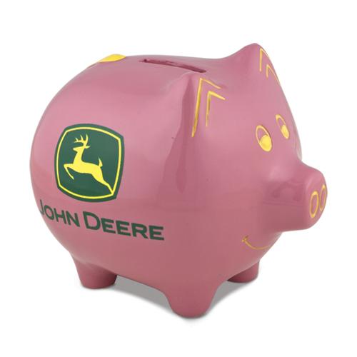 John Deere Pink Piggy Bank -GM8494