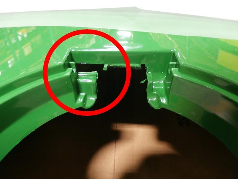 John Deere hood fuel door cowl set 4200 4210 4300 4310 ...