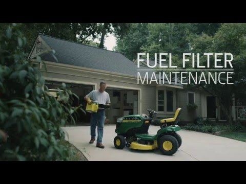 How To Change A John Deere Lawn Mower Fuel Filter | How To ...