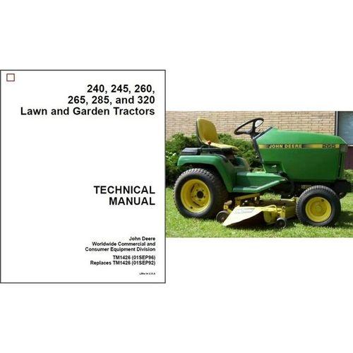 John Deere 240 245 260 265 285 320 Lawn Garden Tractor ...