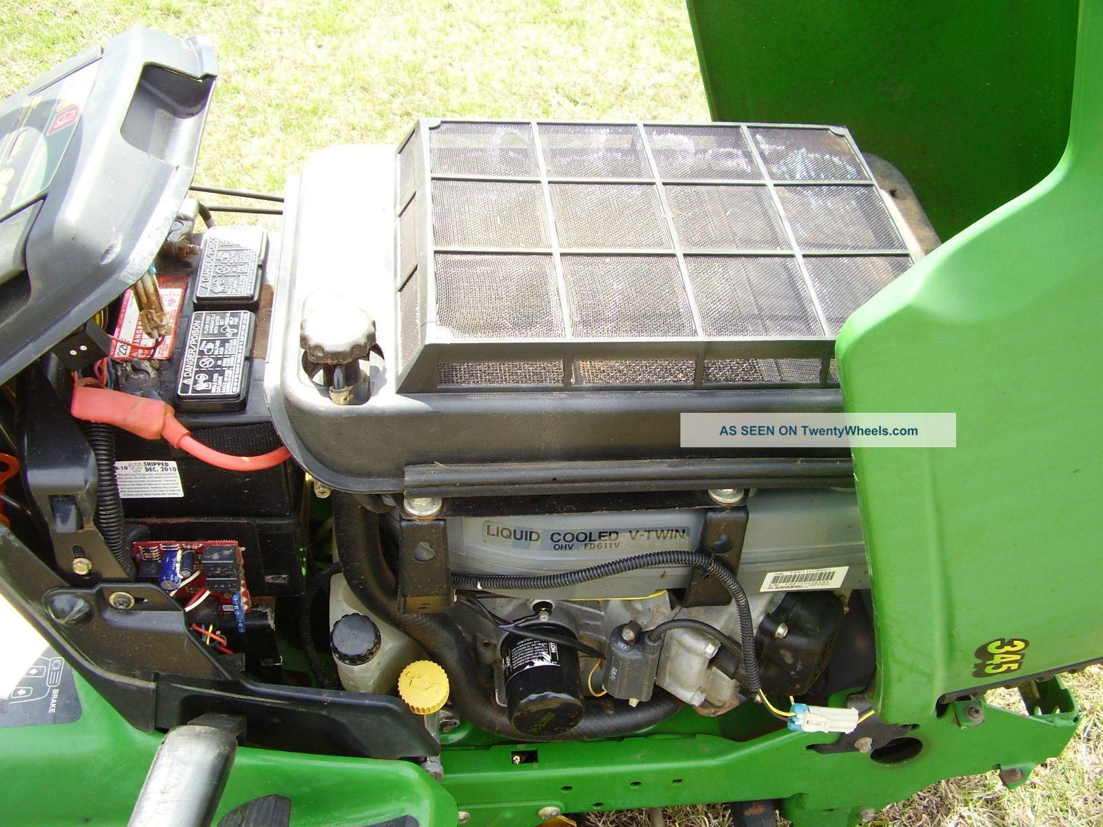 John Deere 345 Water Cooled 48 Inch Cut Power Steering ...