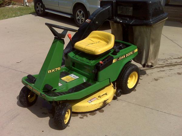 John Deere RX 75 riding lawn mower 9 hp 30 inch cu photo ...