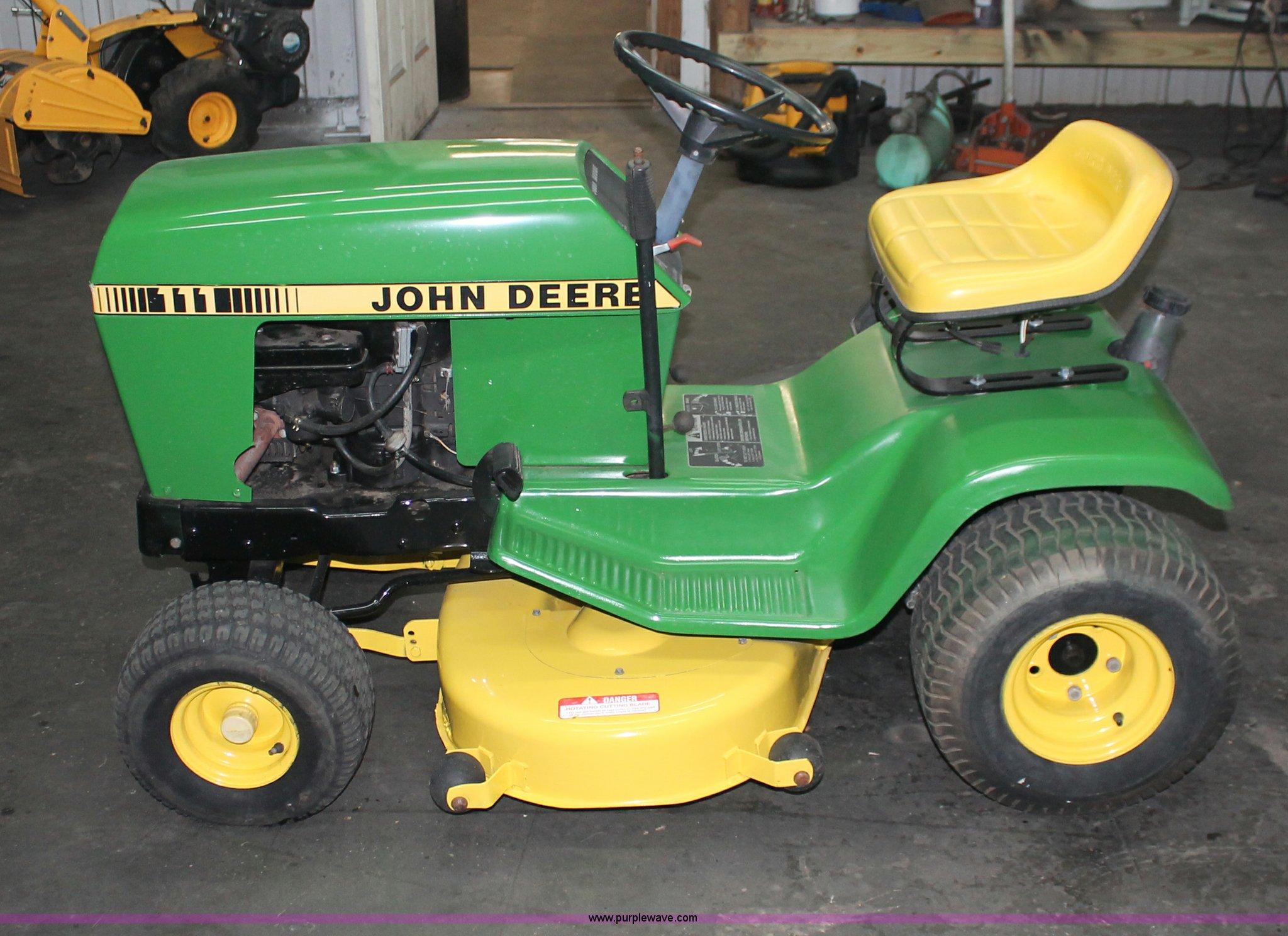 John Deere 111 lawn mower | Item V9245 | SOLD! Wednesday ...