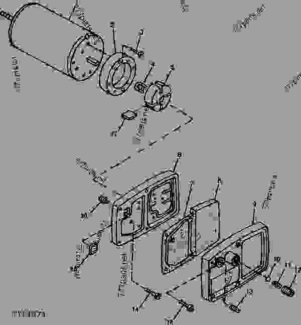 MOTOR AND PUMP [01G09] - HEATER, SPACE John Deere 150 ...