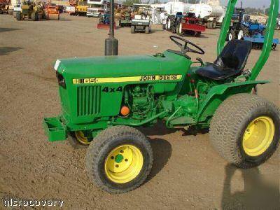 John deere 650 tractor 25 hp diesel engine, pto