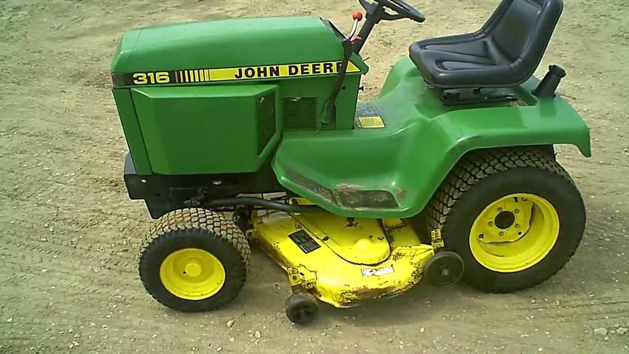 For Sale Clean John Deere 316 Lawn & Garden Tractor w/ 46 ...