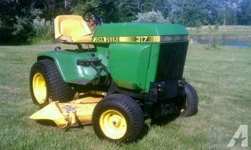 John Deere 317 garden tractor - hydrostatic - VIDEO for ...