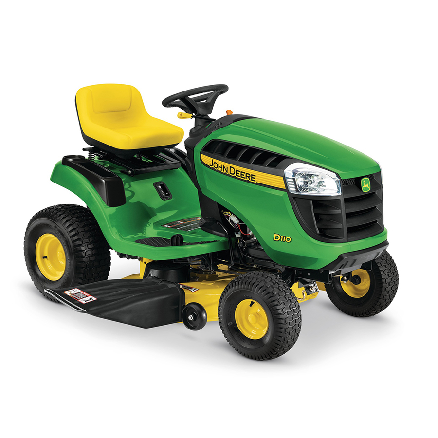 Shop John Deere D110 19-HP Hydrostatic 42-in Riding Lawn ...