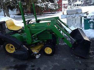 JOHN-DEERE-40-LOADER-425-445-455-Garden-Tractor