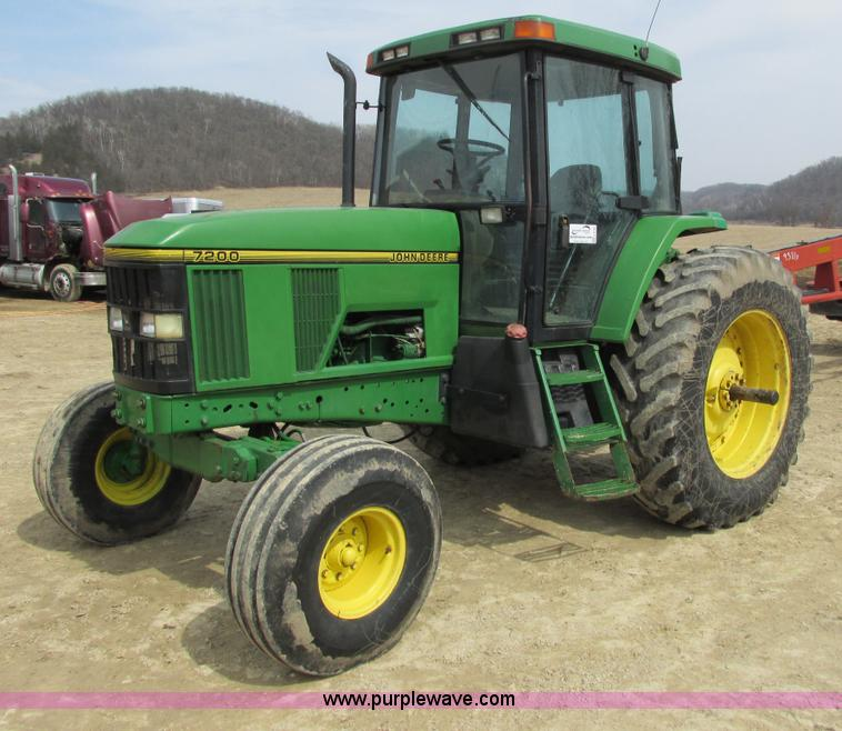 1994 John Deere 7200 tractor   no-reserve auction on ...