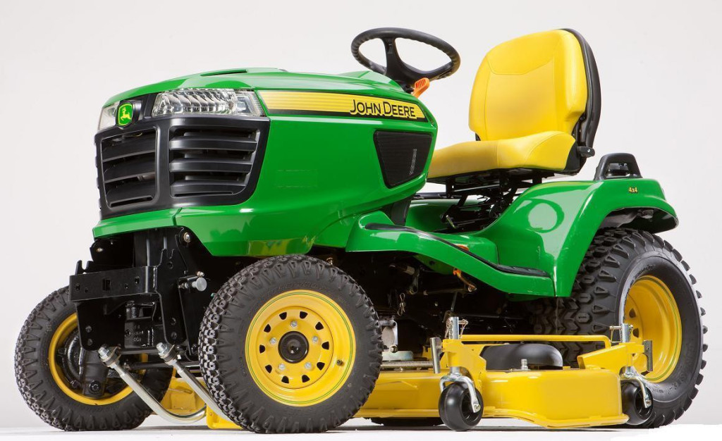 The John Deere X758 lawn mower: In a different league