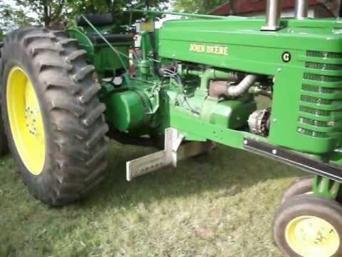 John Deere G Series Pulling Tractor restored - YouTube
