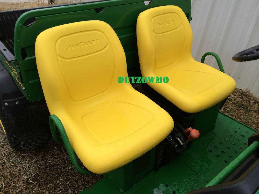 New Pair of Genuine John Deere Gator seats in Yellow!   eBay