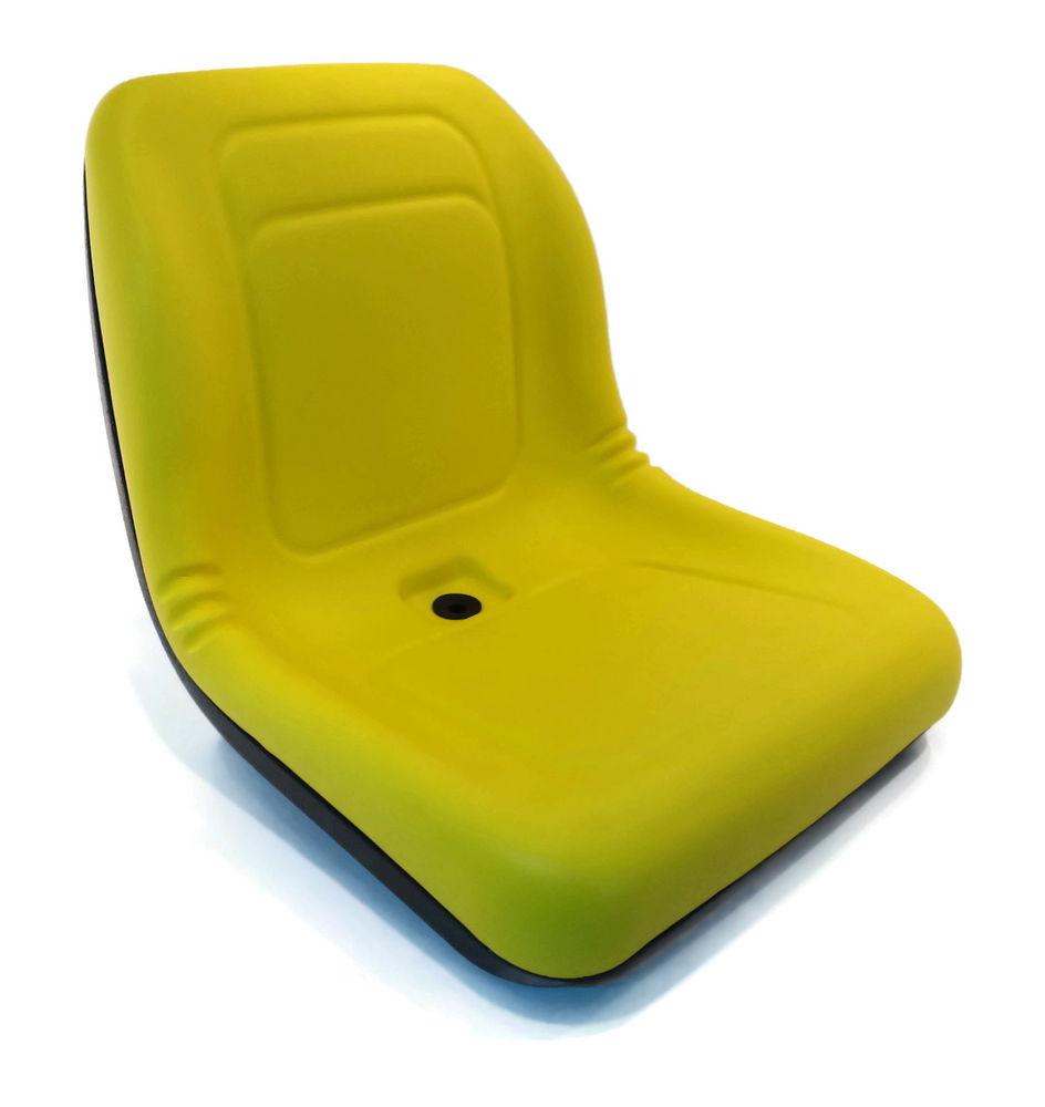 New Yellow HIGH BACK SEAT for John Deere Lawn Mower Models ...