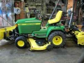 Equipment Shipping John Deere #455 garden tractor w ...