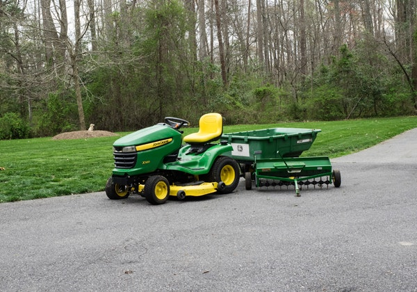 John Deere x320 Tractor with Attachments : EBTH