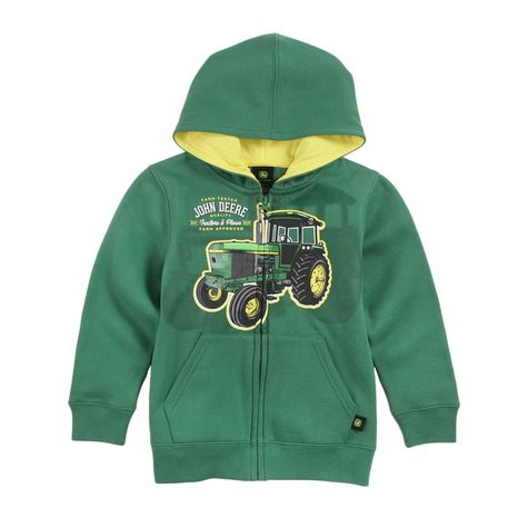 John Deere Boys Tractor and Plows Zip Hoodie: Shopko
