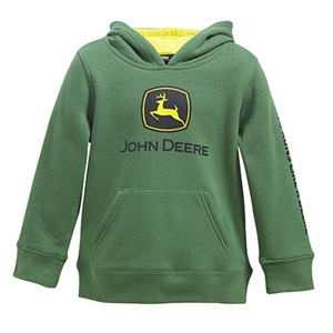 John Deere Toddler Boy's Green Logo Hooded Sweatshirt | WeGotGreen.com