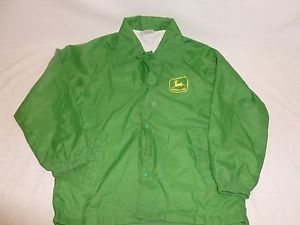 Vtg-Youth-Boys-John-Deere-Green-Wind-Breaker-Nylon-Light-Farmer-Jacket ...