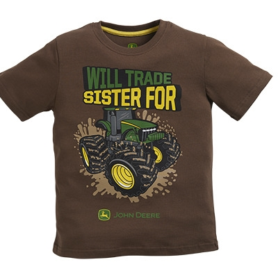 John Deere Boy's Brown Trade Sister Tee | WeGotGreen.com