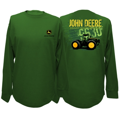 John Deere Men's Green 9630 Tractor Long Sleeve Shirt | WeGotGreen.com