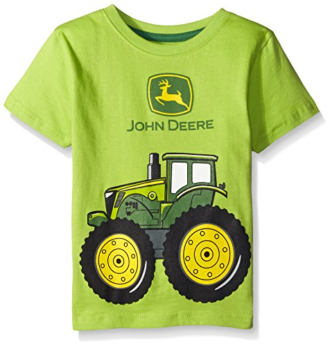 John Deere Little Boys' Big Tractor T-Shirt, Lime Green, 4T Home ...