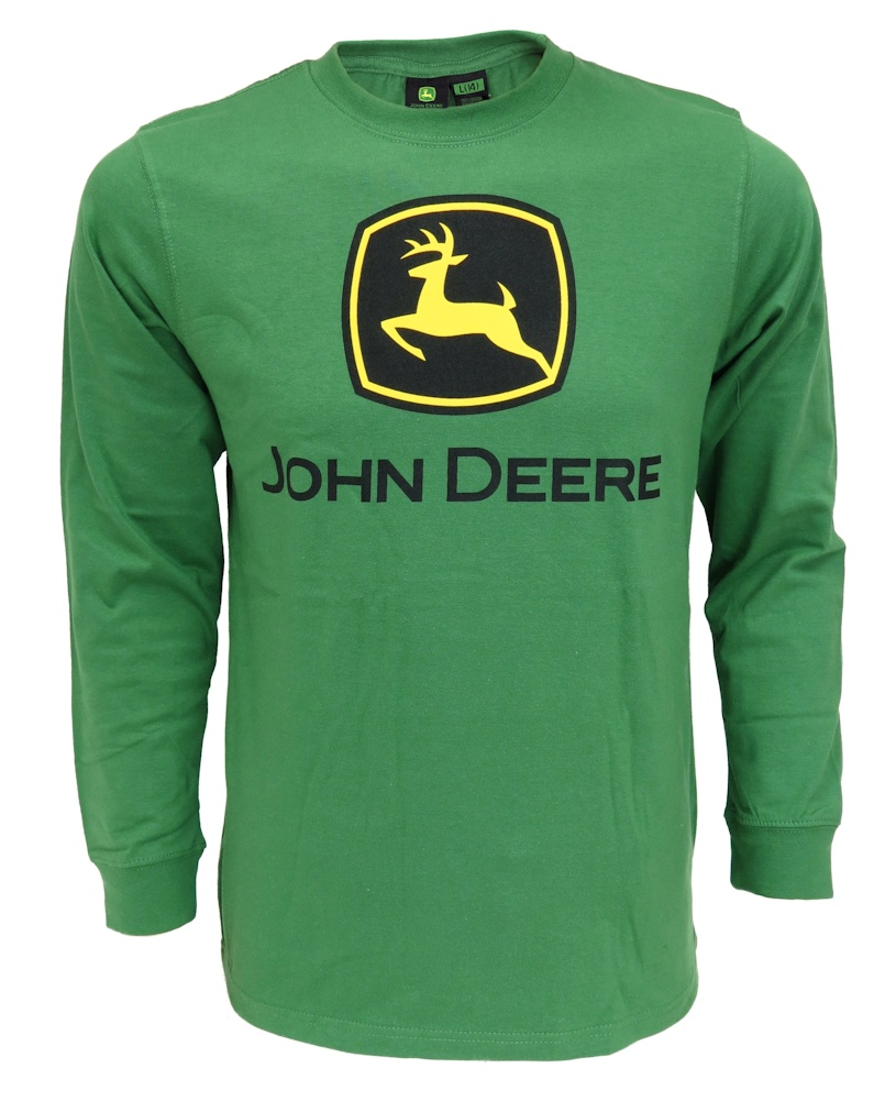 John Deere LOGO Green Long Sleeve Tee Shirt