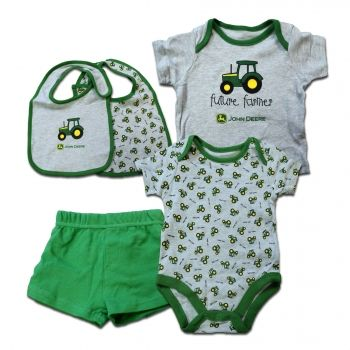 John Deere Infants Green And Gray Four Piece Set - Future Farmer