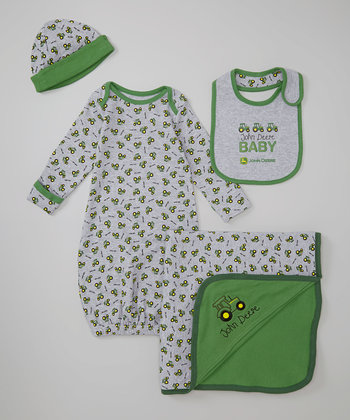 Heather Gray Farming Pajama Set – Infant