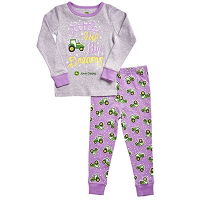 John Deere Infant Girl's Purple Big Dreams Pajamas | WeGotGreen.com
