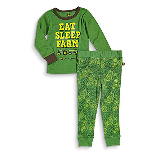 John Deere Baby Boys' Eat Sleep Farm Pajama Set