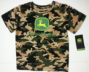 NEW John Deere Boys Short Sleeve Camo T-Shirt Sizes 2T 3T 4T | eBay