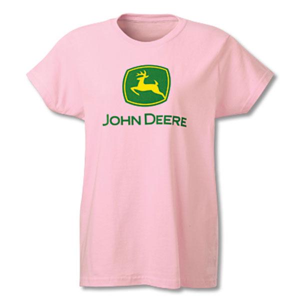 John Deere Ladies' Pink Trademark T Shirt JD03002