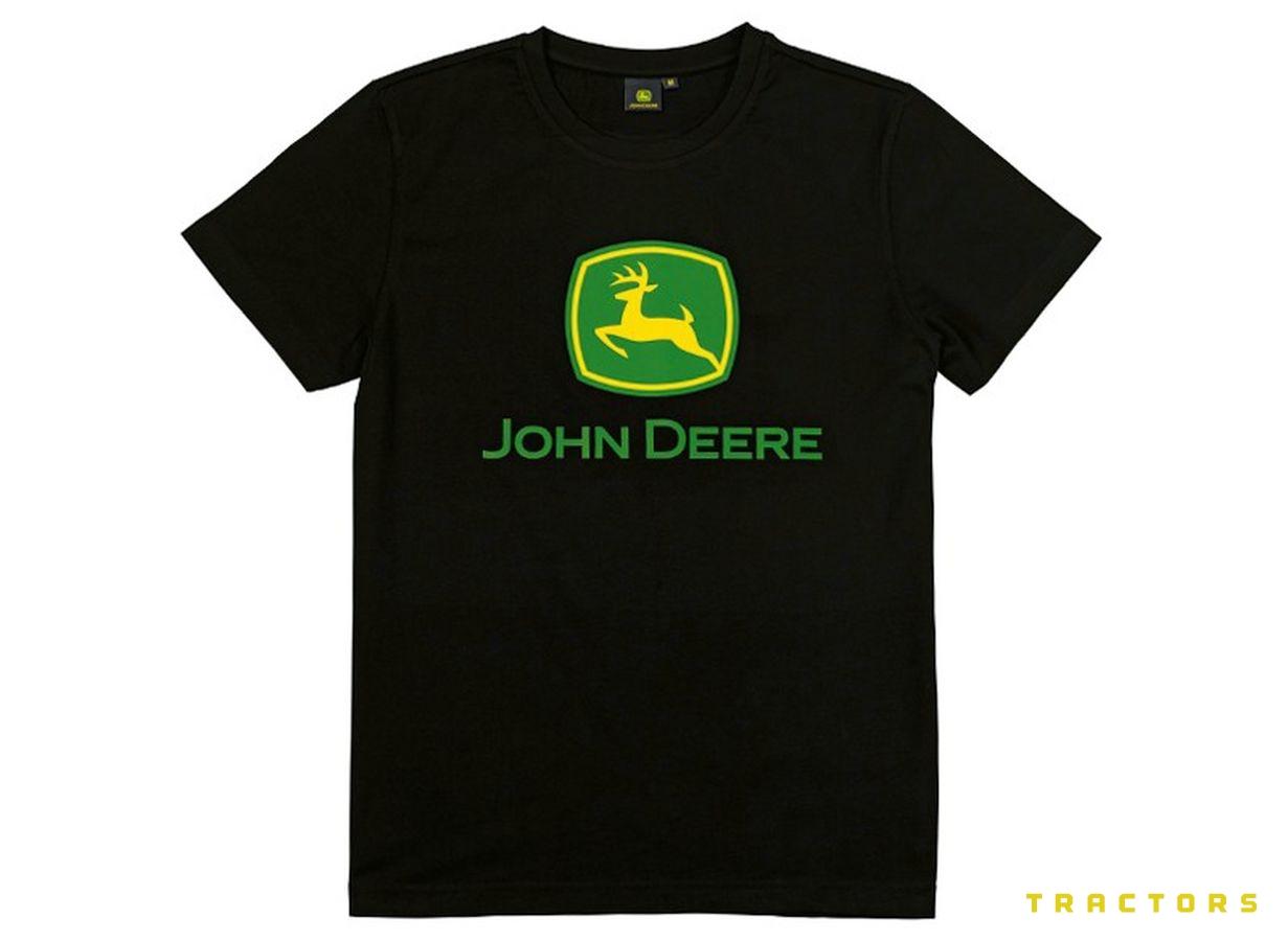 John Deere Basic T shirt Black HRN Tractors